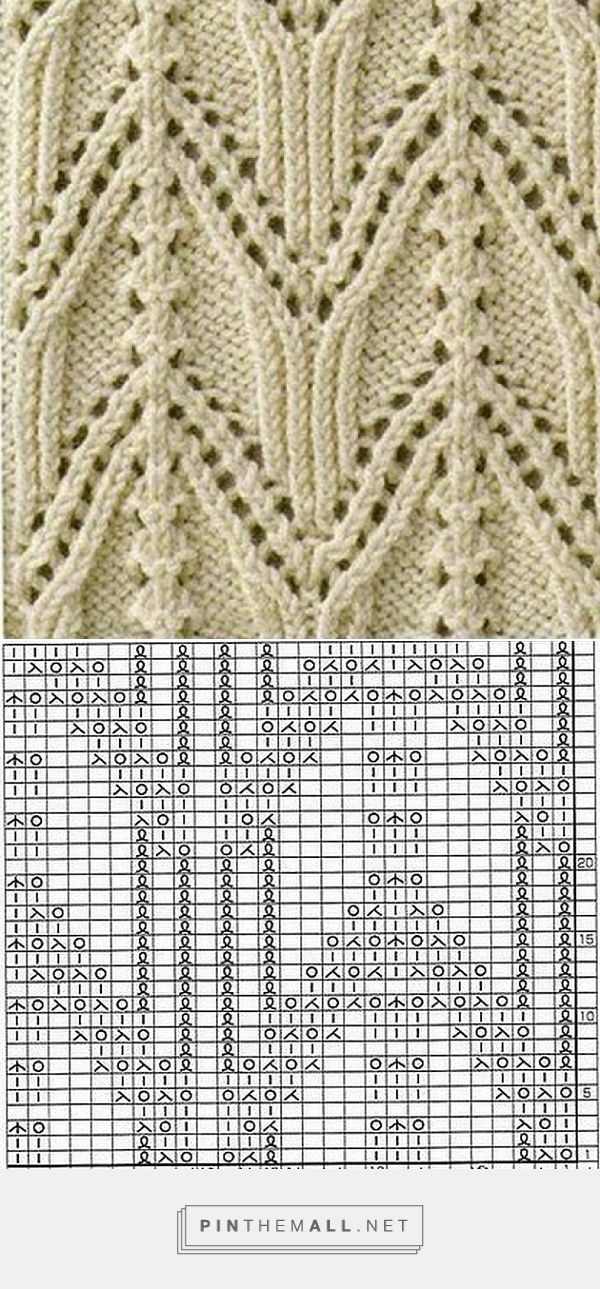 Lace knitting pattern with chart ~~ http://woman7.ru/rukol/uzori-spicami/1351-podborka-uzorov-spicami.html ~~ Подборка узоров спицами