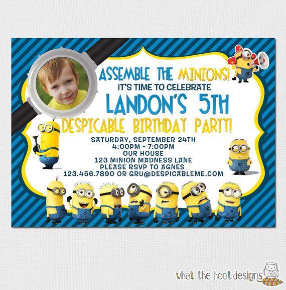 The 25 best minion invitation ideas on pinterest diy minion minions invitation minions birthday party by yourpartyprintables stopboris Gallery