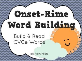 Word work literacy center - building words with silent E