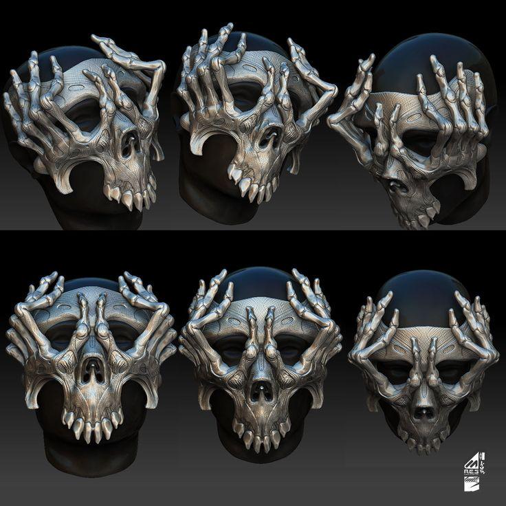Mask concept, Huit Oner on ArtStation at https://www.artstation.com/artwork/mask-concept
