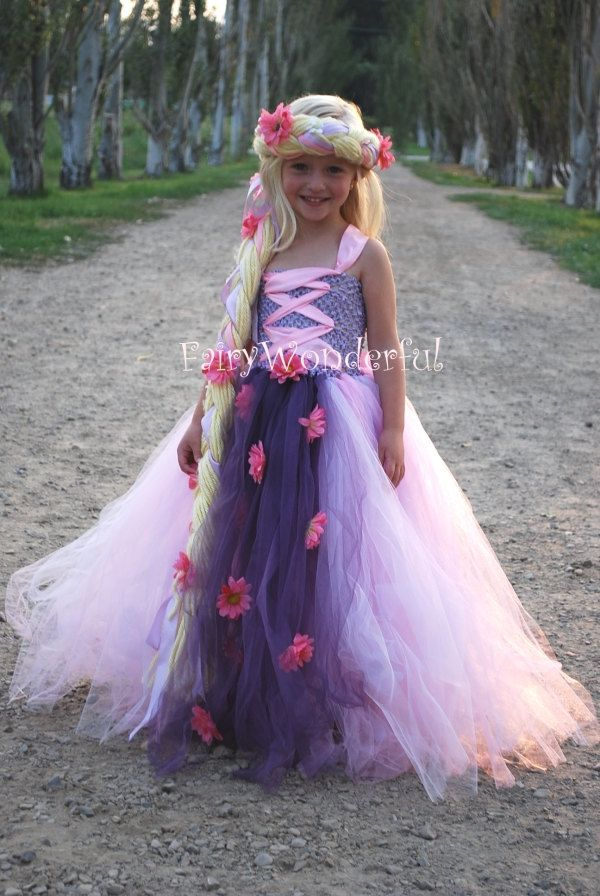 Rapunzel Inspired Tutu Dress.