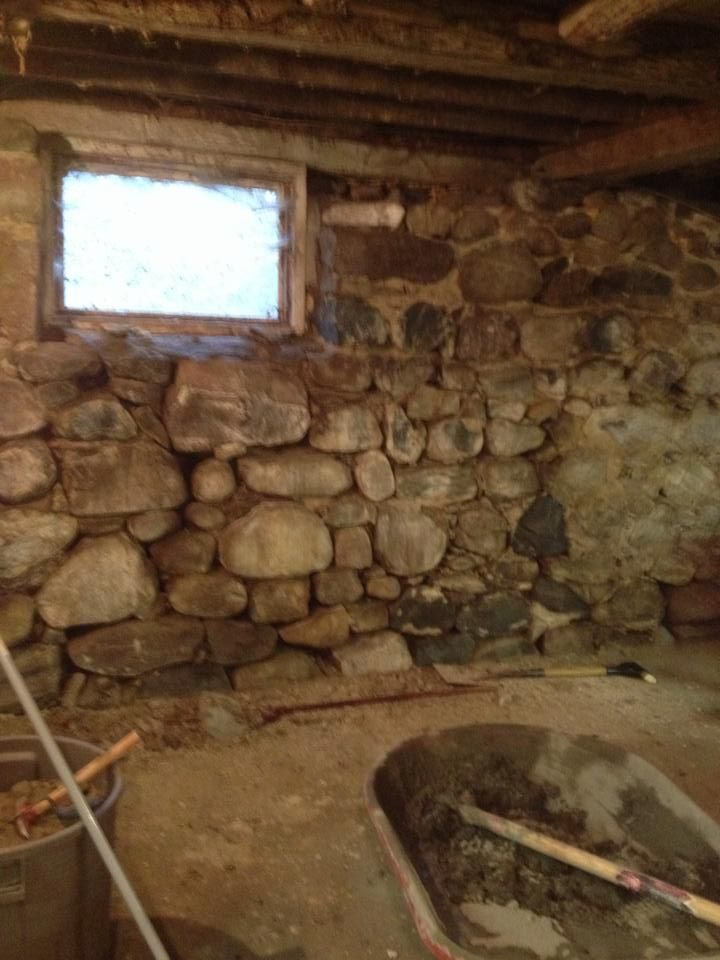 Barn Foundation Stone Wall Restoration, How To Repair A Stone Basement Wall