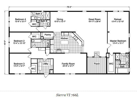 palm harbor home double wide floor pla sierra - Home Floor Plans