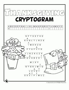 Thanksgiving Word Searches, Scrambles, Cryptograms