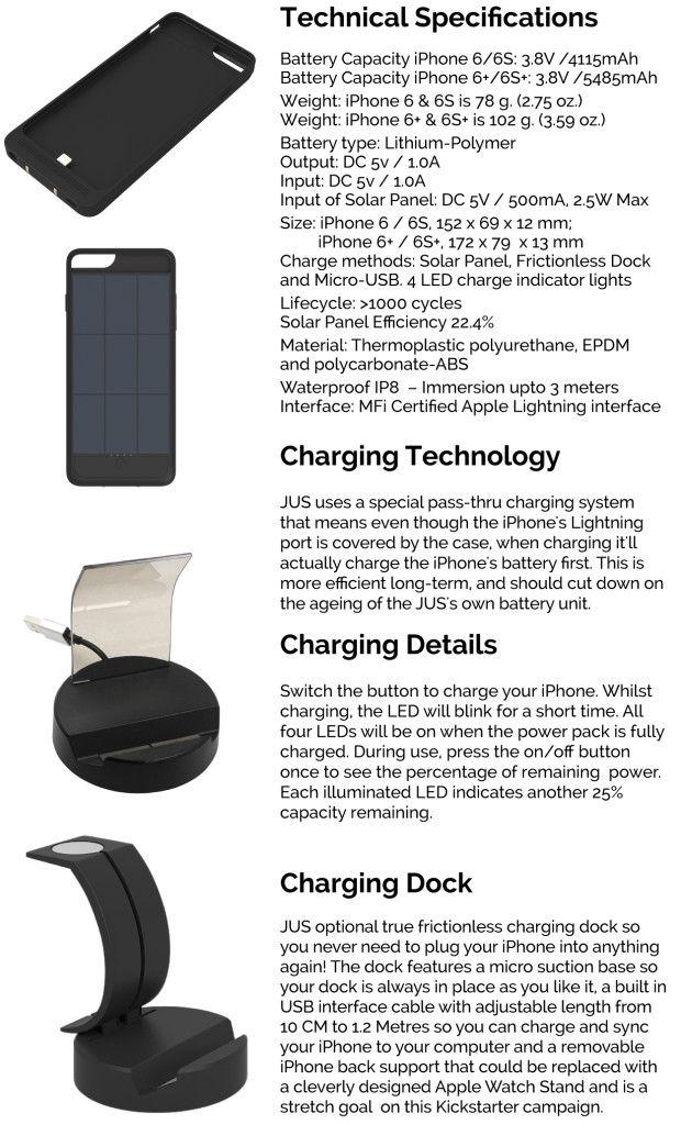 JUS: Your iPhone Will Never Run Out of Power Again | Indiegogo