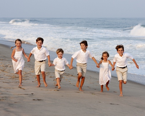 Family Beach Portraits - Wiborg Beach East Hampton, NY |  Deborah Kalas Portrait Photography