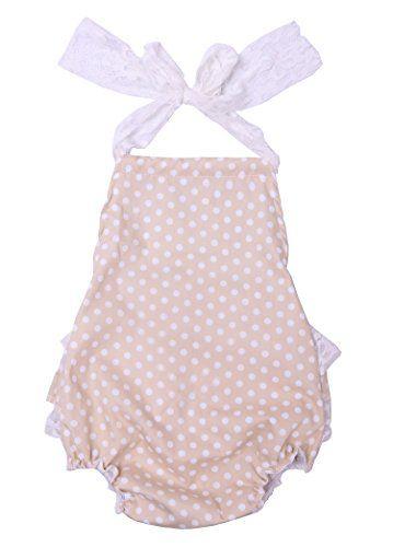 3f59685cdd2 Cilucu Baby Girl Romper Newborn Lace Ruffle Romper Dress Infant Summer  One-Piece Outfits Dot