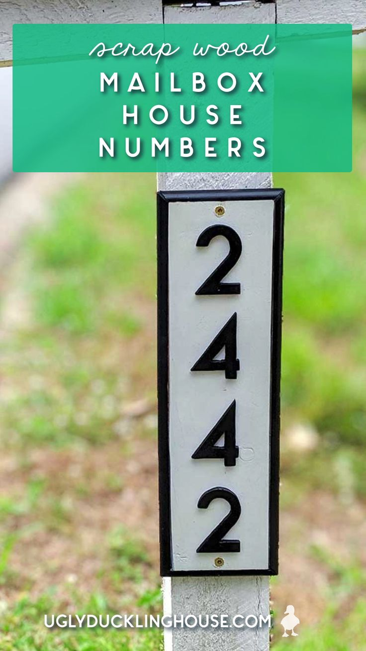 DIY House Numbers Sign for the Mailbox [Video] House