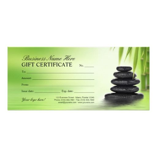23 best Spa, Massage \ Beauty Salon Gift Certificates images on - gift voucher format