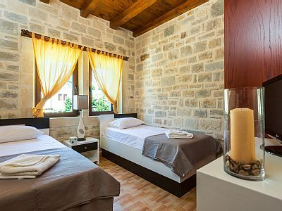 Rethymno villa rental - Twin bedroom located on the first floor!