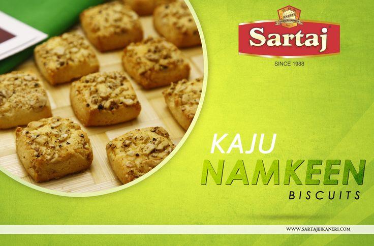 Try The taste of Kaju Namkeen in our Special  Kaju Namkeen Biscuits <3  #Sartaj #Biscuits