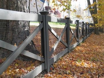 Redding picket fence, stonewall, and cross buck rail fence - farmhouse - Landscape - New York - Britain Fence LLC