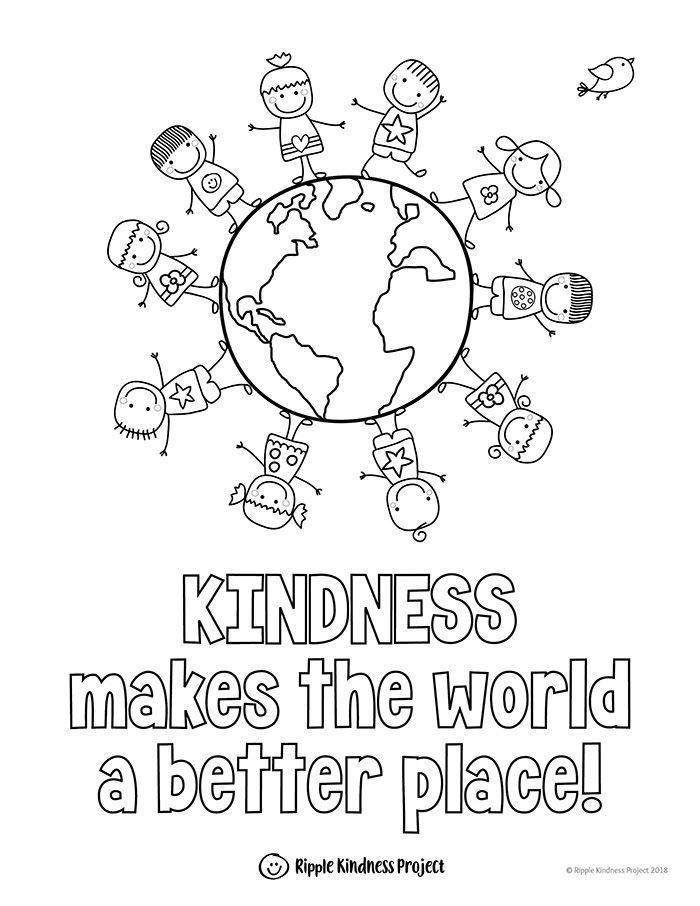Kindness Coloring Pages Kindness Activities Kindness Quotes Posters Kids Coloring Books Kindness Activities Kindergarten Worksheets