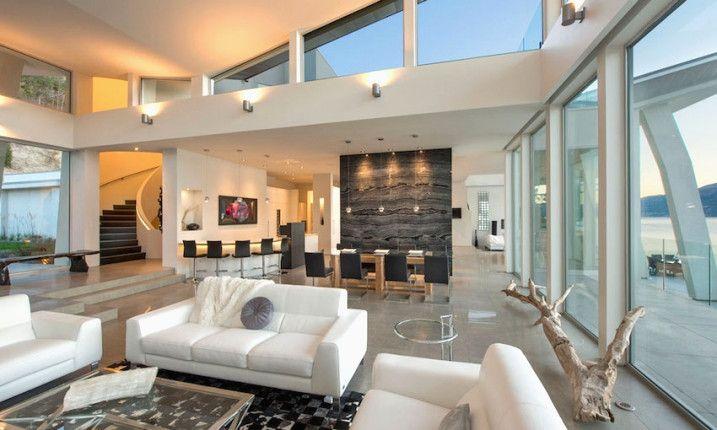Meuble Rouge Pour Plan De Interieur Maison Contemporaine Moderne ...