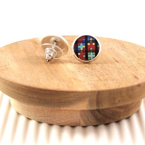Pixel inspired #handmade #earrings