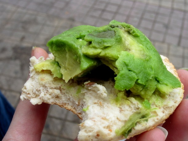 Pan y Palta (Bread and Avocado)  In Chile, the mid-day meal, usually eaten around 1pm, is the big meal of the day; supper, called oncé, is typically much lighter and simpler. A popular choice for oncé is pan y palta, or bread and avocado. Chilean avocado is fresher and more varied than its North American cousins.