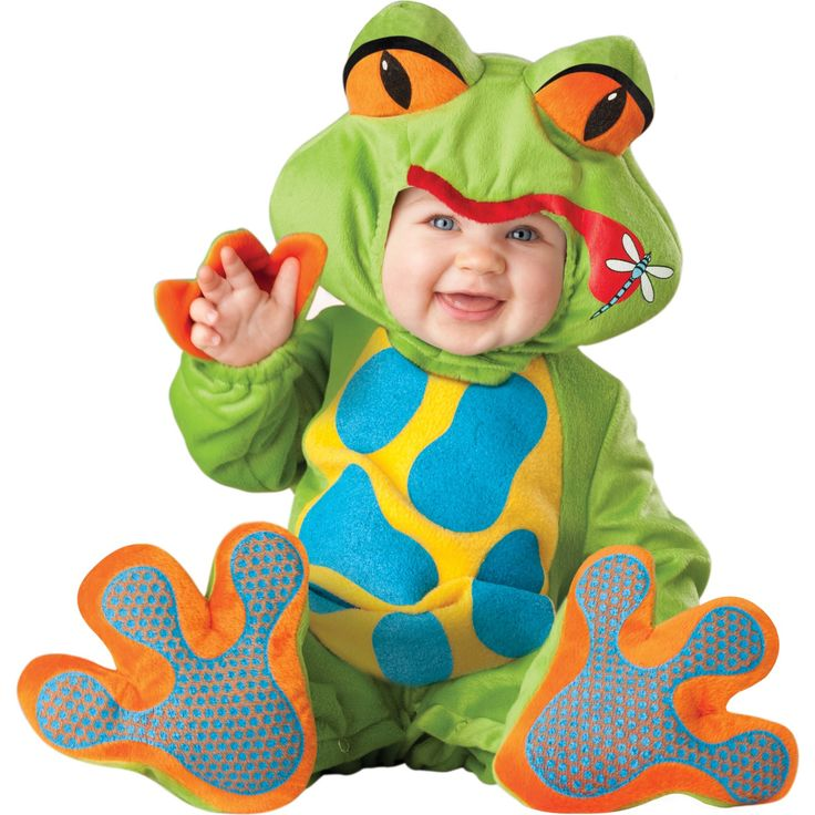 our froggy costume is for infants and toddlers with a lined zippered jumpsuit with leg snaps for easy diaper change hood with graphic - Diaper Costume Halloween