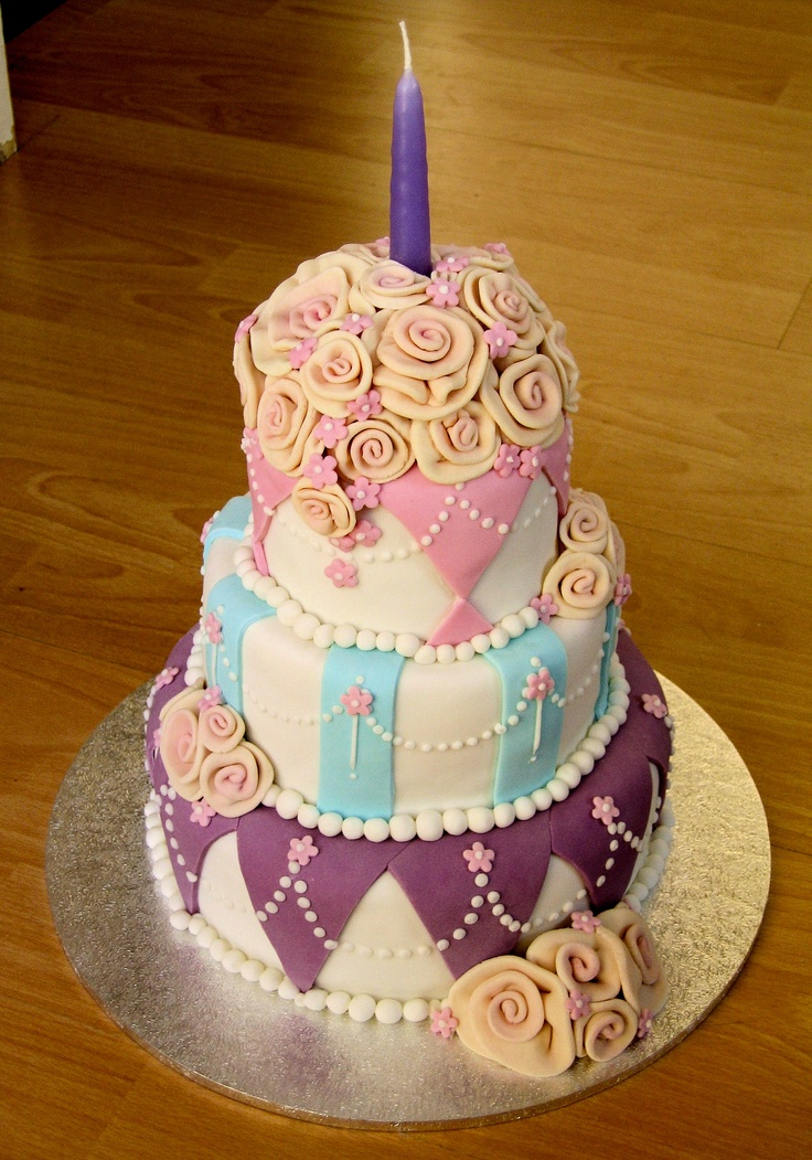 Cake Ideas Mom S Birthday : Mum s 50th Birthday cake 2004 birthday cakes Pinterest ...