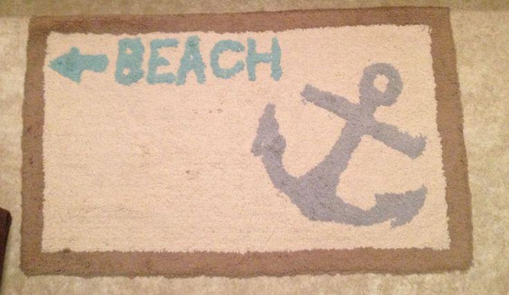 about Beach themed bathroom on Pinterest  Nautical rugs, Beach theme