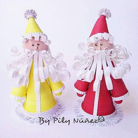 Christmas decoration in quilling paper by Pily Nuñez  www.facebook.com/creaquilling  www.creaquilling.blogspot.com www.instagram.com/pilyquilling