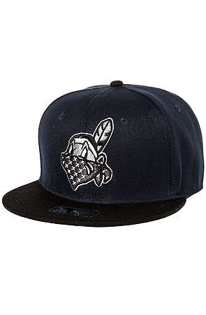 The Scalpem All Snapback in Navy and Black by Dissizit!