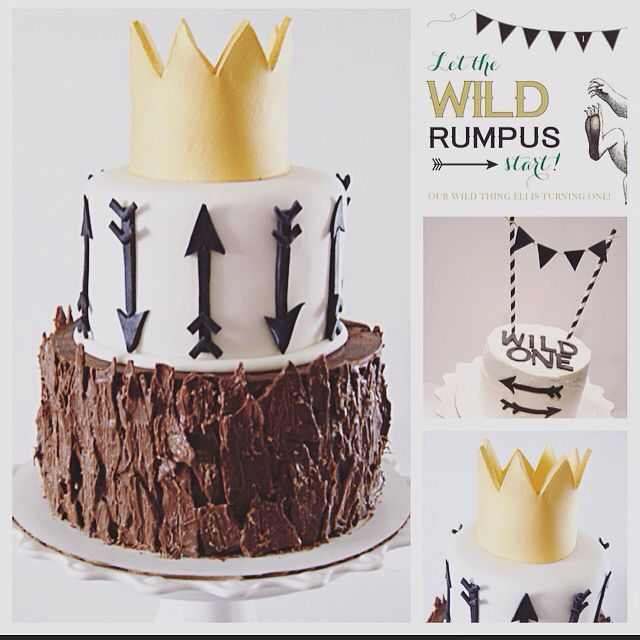 Where the wild things are cake and smash cake