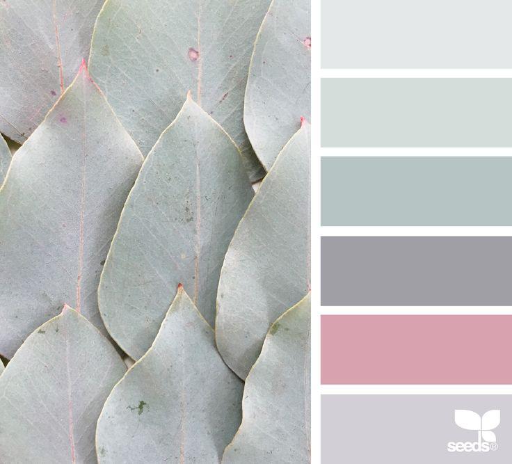 nature tones Silver - Old Rose -Silver Lavender - Dusty Eau de Nil