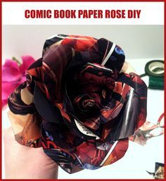 How to Make a Star Wars Paper Rose | StarWars.com I'm definitely using comics pages for wedding bouquets