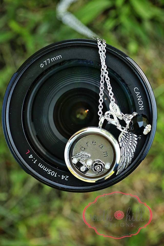 Photos capture the snaps in life that would otherwise be lost... Are you a shutterbug? Celebrate your passion with a photography locket from SHD. (photo credit, Kelley Popp) www.southhilldesigns.com/knewberry