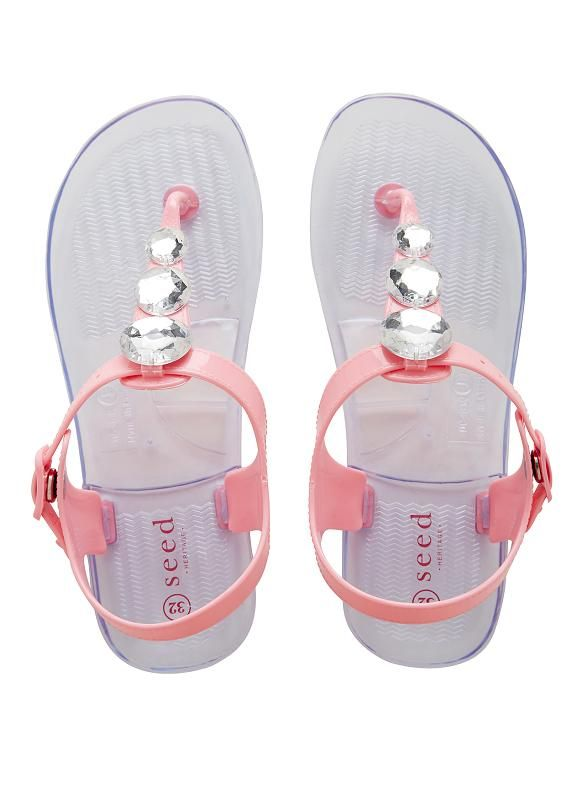 Childrens Shoes Boys Shoes Girls Shoes   Diamante Jelly T-Bar Sandal   Seed Heritage