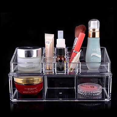 Acrylic Transparent Complex Combined Double Layer Cosmetics Storage Box Cosmetic Organizer – EUR € 10.90