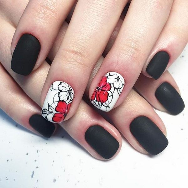 74 best prettynails images on pinterest nail scissors acrylic 50 black nail art designs prinsesfo Choice Image