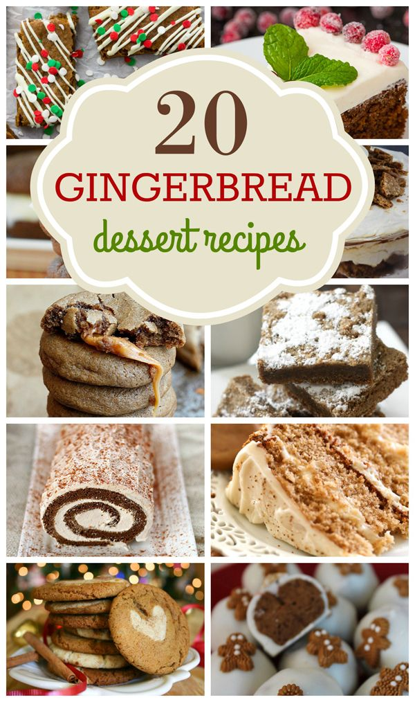 Tis' the season for some delicious gingerbread recipes! Check out 20 gingerbread dessert recipes on www.prettymyparty.com.