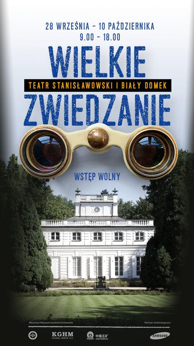 sightseeing event in Łazienki Królewskie - poster