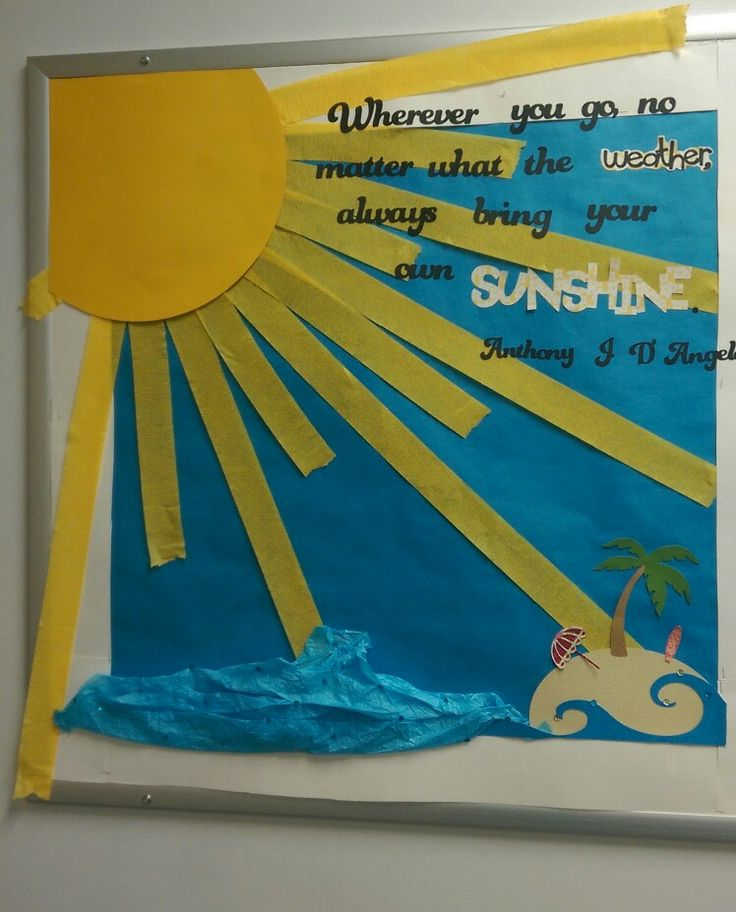 August Relief Society bulletin board