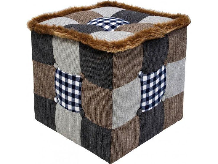 Pufa Patchwork Highlands — Otomany Pufy Kare Design — sfmeble.pl