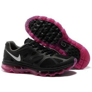 http://www.asneakers4u.com/ Cheap nike air max 2012 womens shoes black pink 36 40