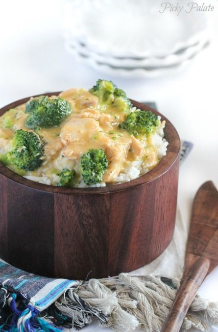 Creamy Crockpot Chicken and Broccoli Over Rice | Stove ...