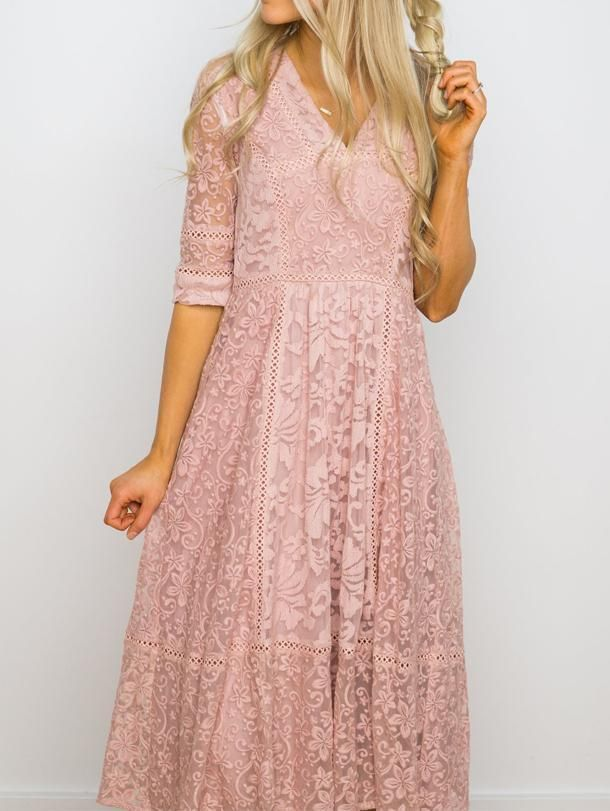 Pure Sweet 3 4 Sleeve Lace Dress Charmfros Lace Dress With Sleeves Floral Wrap Maxi Dress Lace Dress