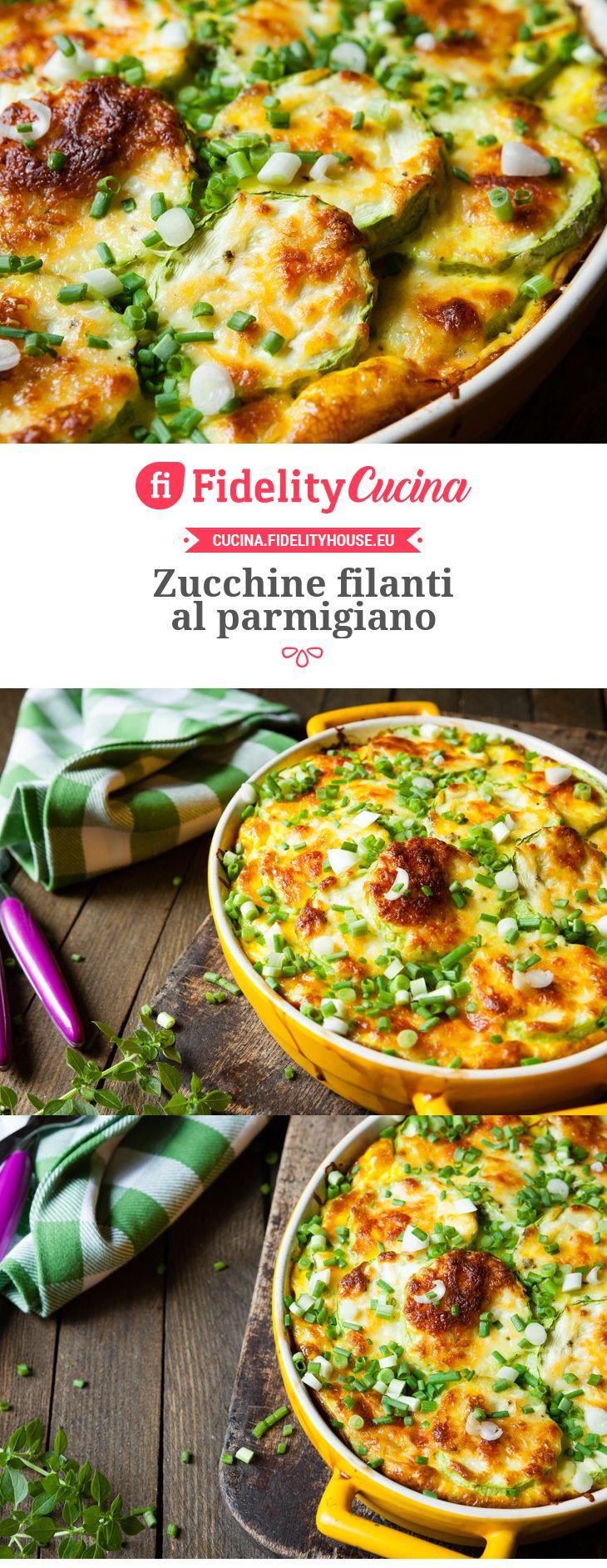 Zucchine filanti al parmigiano