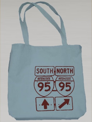 "Belindabilly Printed Collection ""I-95"" Canvas Totebag $19"