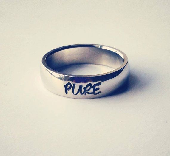 "Purity ring, Personalized Ring, Engraved Ring, Personalized/Engraved Ring "" Wedding Band Style"", name Ring, Class Ring on Etsy, $30.00"
