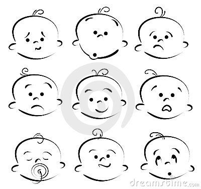 Baby cartoon face by Sergeychernov, via Dreamstime