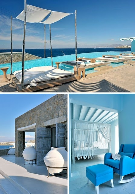 gorgeous. let's go...Mykonos Greece, Beach House, Favorite Places, Bedrooms Colors, Cavo Tagoo, Cavotagoo, Shades Sailing, Greek Style, Beachhouse