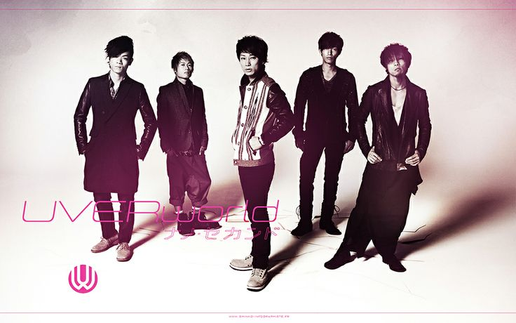 Wallpaper réalisé à l'occasion de la sortie du single Nano Second du groupe japonais UVERworld.