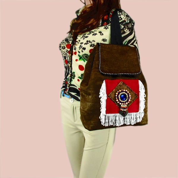 Hmong Vintage Ethnic Thai Indian Rucksack Travel Bag Boho Hippie Backpack 261