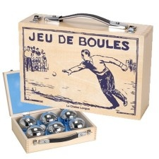 petanque anyone?  Bowls Game in Wooden Box