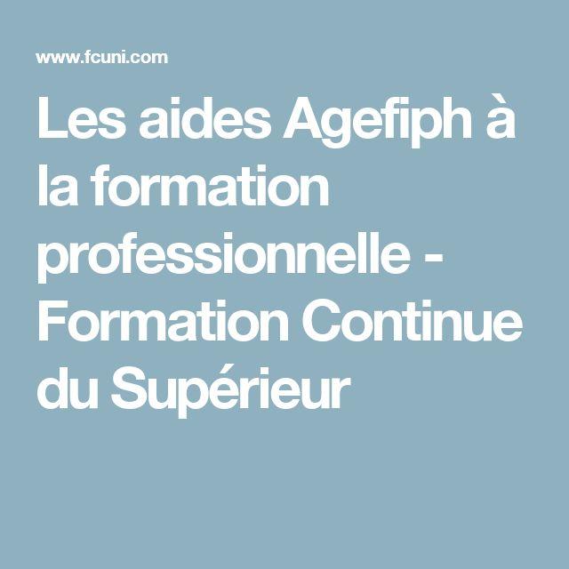 Les aides Agefiph à la formation professionnelle - Formation Continue du Supérieur