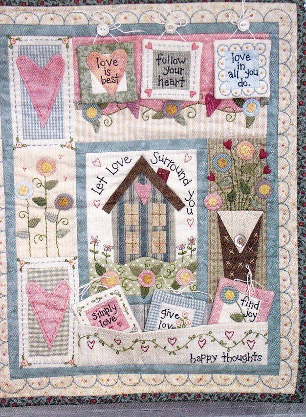 PATTERN - Happy Thoughts - sweet applique, stitchery & pieced PATTERN   eBay