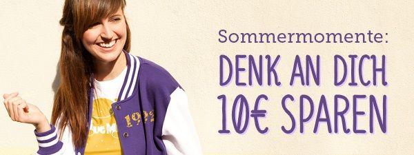 Sommerrabatt ! Vom 30. Juli bis 6. August 2013 reduziert der Gutscheincode MINUSZEHN alle Warenkörbe ab 50 EUR um 10 EUR. Jetzt gestalten und bedrucken auf www.t-shirt-mit-druck.de